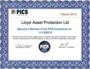 PICS Certificate